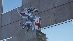 La stemma è la città di Londra stock footage