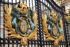 La stemma reale di UK's, Londra, Regno Unito Fotografia Stock Libera da Diritti