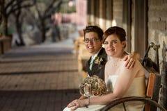 La stessi sposa e sposo del sesso Fotografia Stock Libera da Diritti