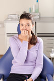 La stomatologia è divertimento: timore della procedura Immagine Stock Libera da Diritti