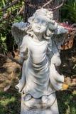 La storia della scultura buddista Fotografia Stock Libera da Diritti