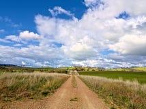 La strada al migliore terreno coltivabile nel mondo Fotografia Stock Libera da Diritti