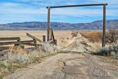 La strada al ranch fotografia stock libera da diritti