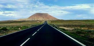 La strada al vulcano Fotografia Stock Libera da Diritti