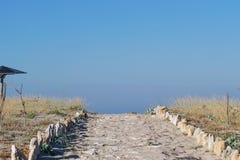 La strada alla spiaggia immagine stock libera da diritti