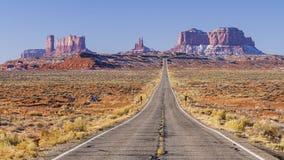 La strada alla valle del monumento Fotografie Stock