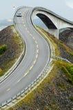 La strada atlantica del litorale Immagine Stock