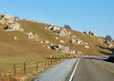 La strada attraverso il passo di montagna, U.S.A. Fotografia Stock Libera da Diritti