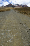 La strada a Chacaltaya, La Paz, Bolivia Immagini Stock Libere da Diritti