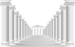 La strada con le colonne del portone Carta da parati per l'interiore rappresentazione 3d royalty illustrazione gratis