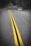 La strada con molti gira Fotografie Stock