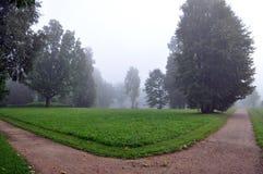 La strada curva passa il parco Fotografia Stock Libera da Diritti