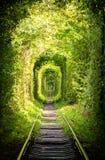 La strada dalla ferrovia Fotografia Stock Libera da Diritti