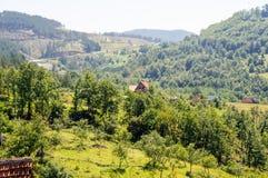 La strada dalla Serbia nel Montenegro Immagine Stock