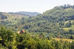 La strada dalla Serbia nel Montenegro Fotografia Stock Libera da Diritti