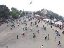 La strada del centro commerciale, Shimla Fotografia Stock Libera da Diritti