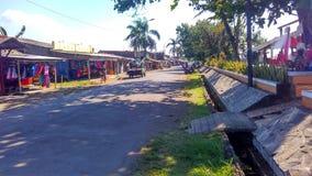 La strada del paesino di pescatori Fotografia Stock