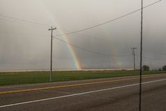 La strada dell'arcobaleno Fotografia Stock