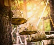 La strada della corda di collega la foresta rampicante immagini stock libere da diritti
