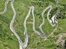 La strada della montagna Immagine Stock