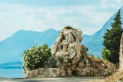 La strada della montagna di tornitura vede la vista Immagine Stock