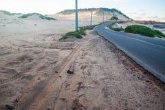 La strada di nuovo alla spiaggia del Pipa Fotografia Stock Libera da Diritti