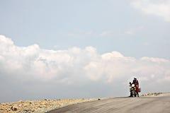 La strada di Transalpina Immagine Stock