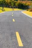 La strada estendere al legno Fotografia Stock