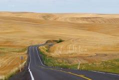 La strada a frumento, Palouse, Washington immagini stock libere da diritti