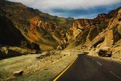 La strada in Ladakh Immagine Stock