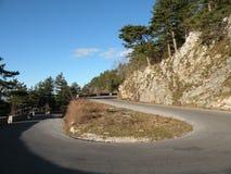 La strada in montagne 5 Fotografia Stock