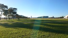 La strada monumentale di Brasilia Fotografia Stock