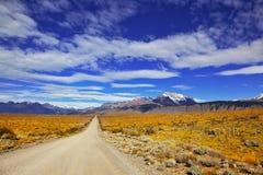 La strada nel deserto Fotografia Stock