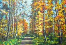 La strada nella foresta Immagine Stock Libera da Diritti