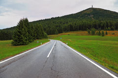 La strada nelle alpi Fotografie Stock Libere da Diritti