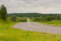 La strada nelle colline Fotografia Stock Libera da Diritti