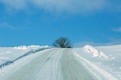 La strada nelle montagne Fotografia Stock