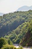 La strada nelle montagne della Serbia Fotografie Stock