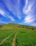 La strada per il cielo Fotografie Stock Libere da Diritti