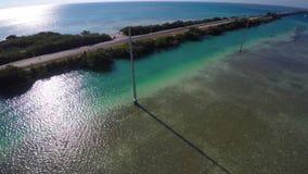 La strada principale d'oltremare Florida chiude a chiave 4k video d archivio