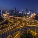 La strada principale nel centro urbano Fotografie Stock