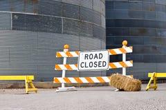 La strada si è chiusa Immagine Stock Libera da Diritti