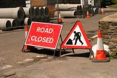 La strada si è chiusa Immagine Stock