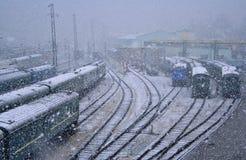 La strada in Siberia Fotografia Stock Libera da Diritti