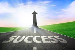La strada a successo Immagini Stock Libere da Diritti