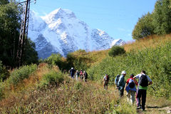 La strada sulla montagna Tcheget Fotografia Stock