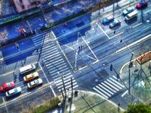 La strada trasversale di Schang-Hai Immagine Stock Libera da Diritti