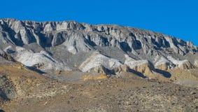 La stratigrafia geologica Fotografie Stock Libere da Diritti