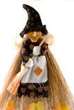 La strega anziana si è vestita in vestito da Halloween Immagini Stock Libere da Diritti