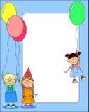 La stretta dei bambini balloons il vettore Fotografia Stock Libera da Diritti
